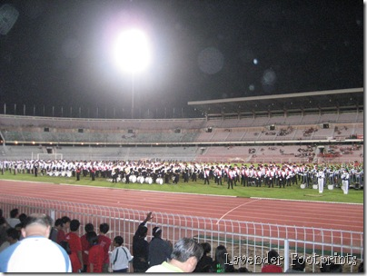 all band member on the field